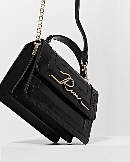 Black 'River' large satchel bag