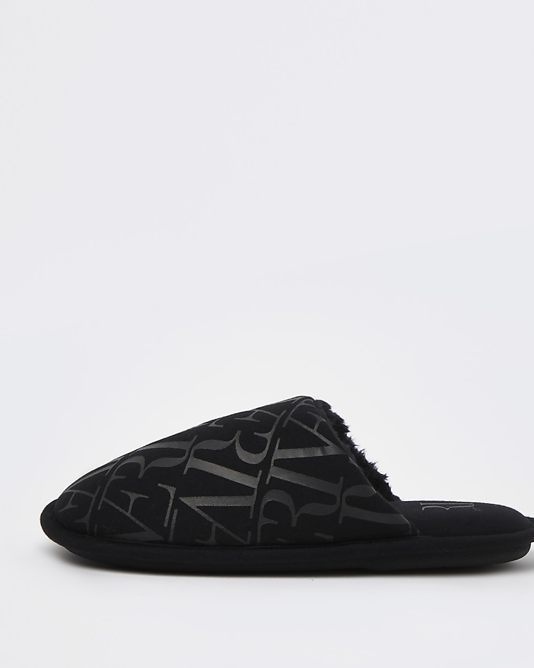 Black River monogram mule slippers