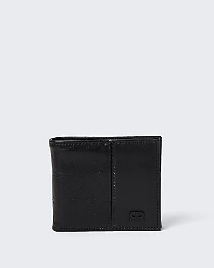 Black river monogram wallet
