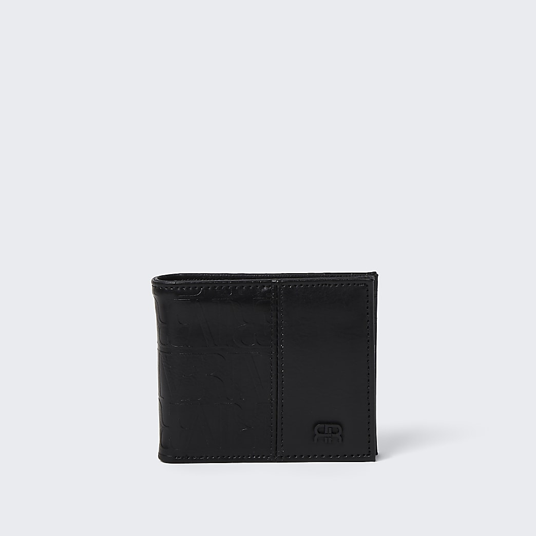 Black river monogram wallet