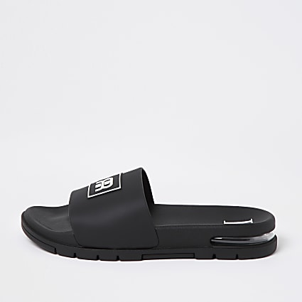 Black RR embossed bubble sliders