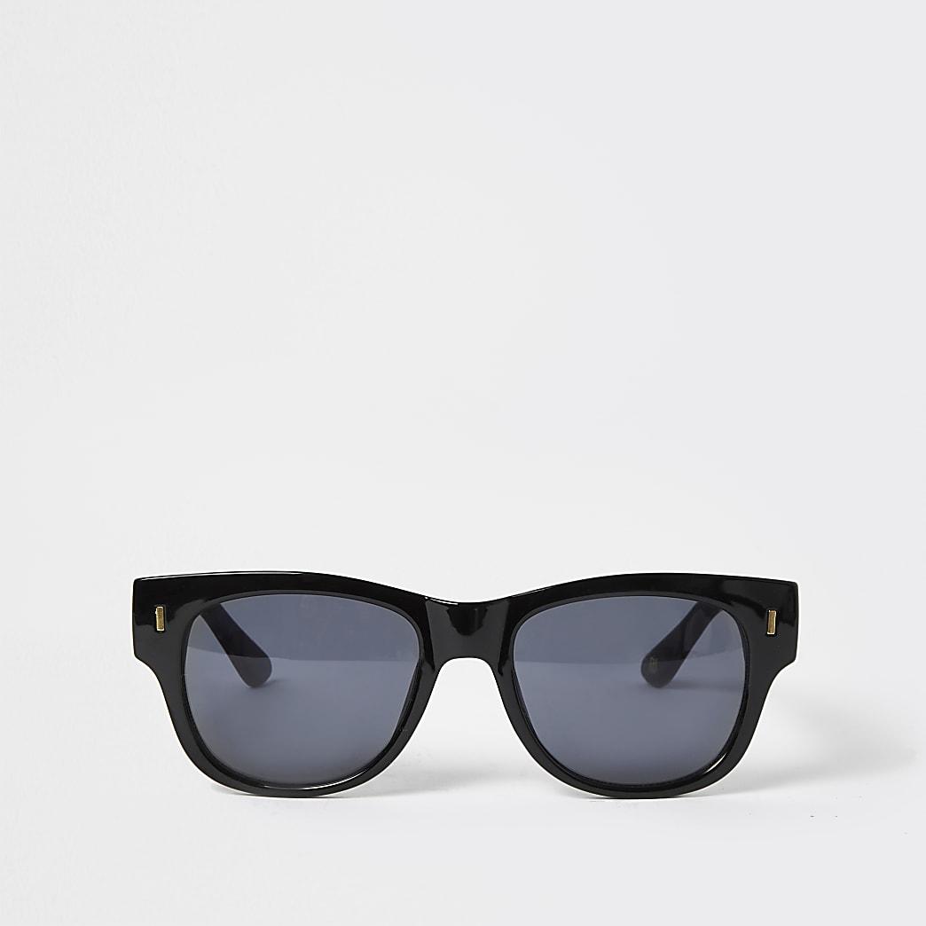 Black RR embossed retro sunglasses