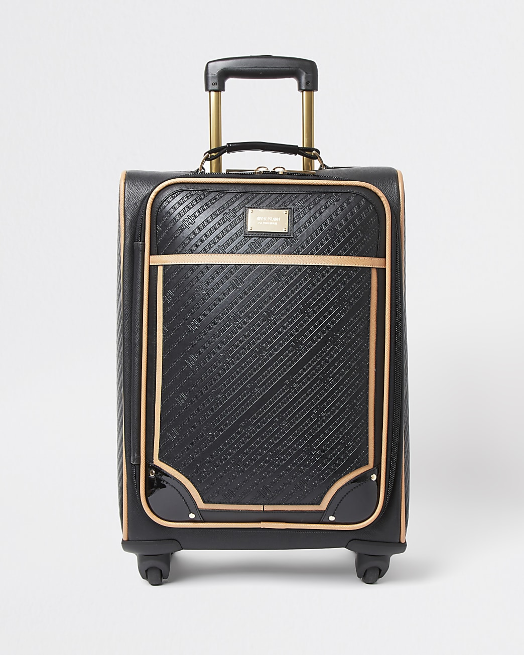 Black RR embossed suitcase