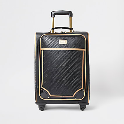 Black RR embossed suitcase