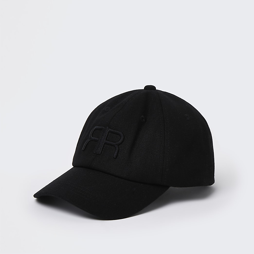 Black 'RR' embroidered cap