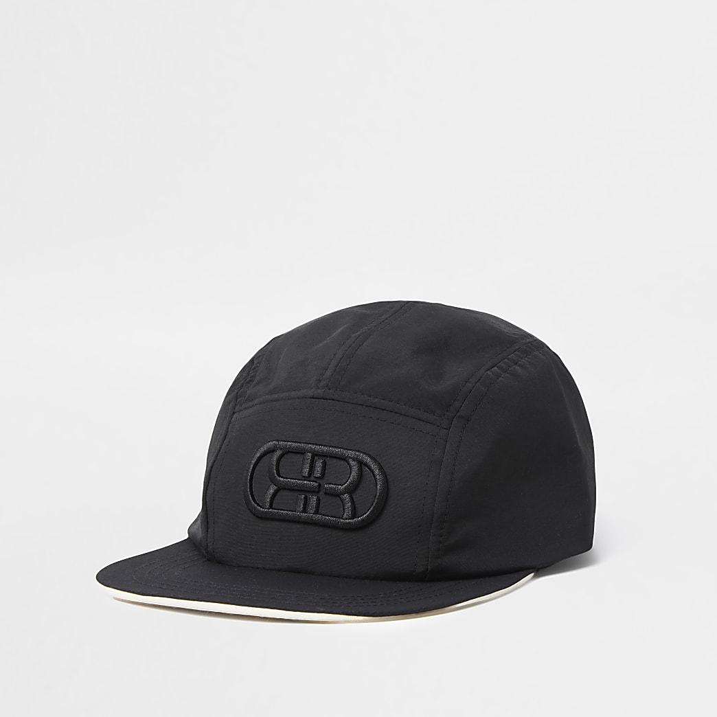 Black RR flat cap