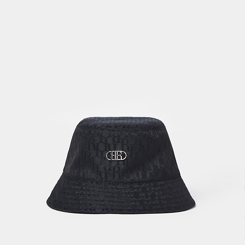 Black RR jacquard bucket hat