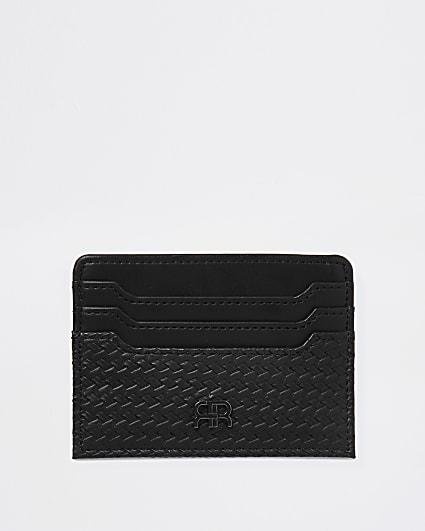 Black RR textured card holder