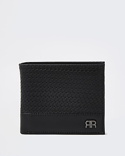Black RR textured fold out wallet