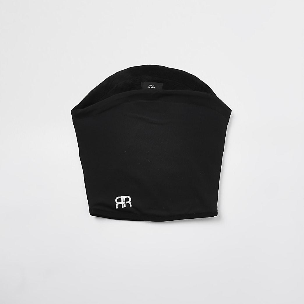 Black 'RR' tube snood scarf