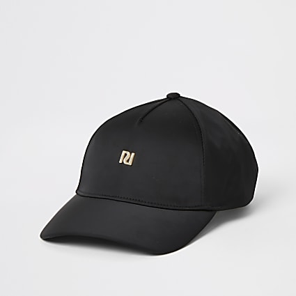 Black satin RI hat