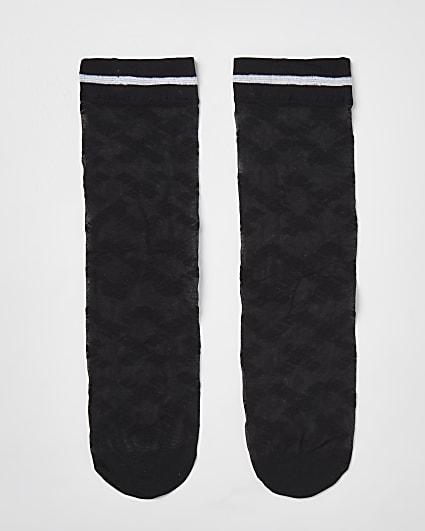 Black sheer River Island socks