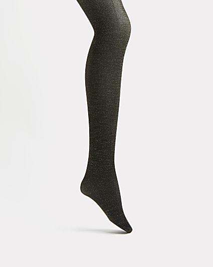 Black shimmer tights