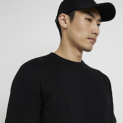 Black short sleeve slim fit t-shirt