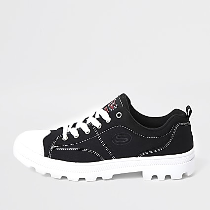 Black skechers roadies trainers