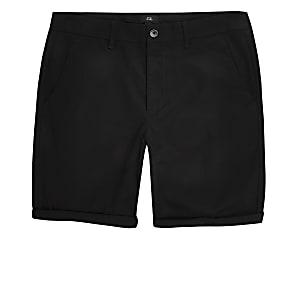 Zwarte skinny chino short