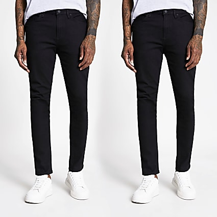 Black skinny fit jeans 2 pack