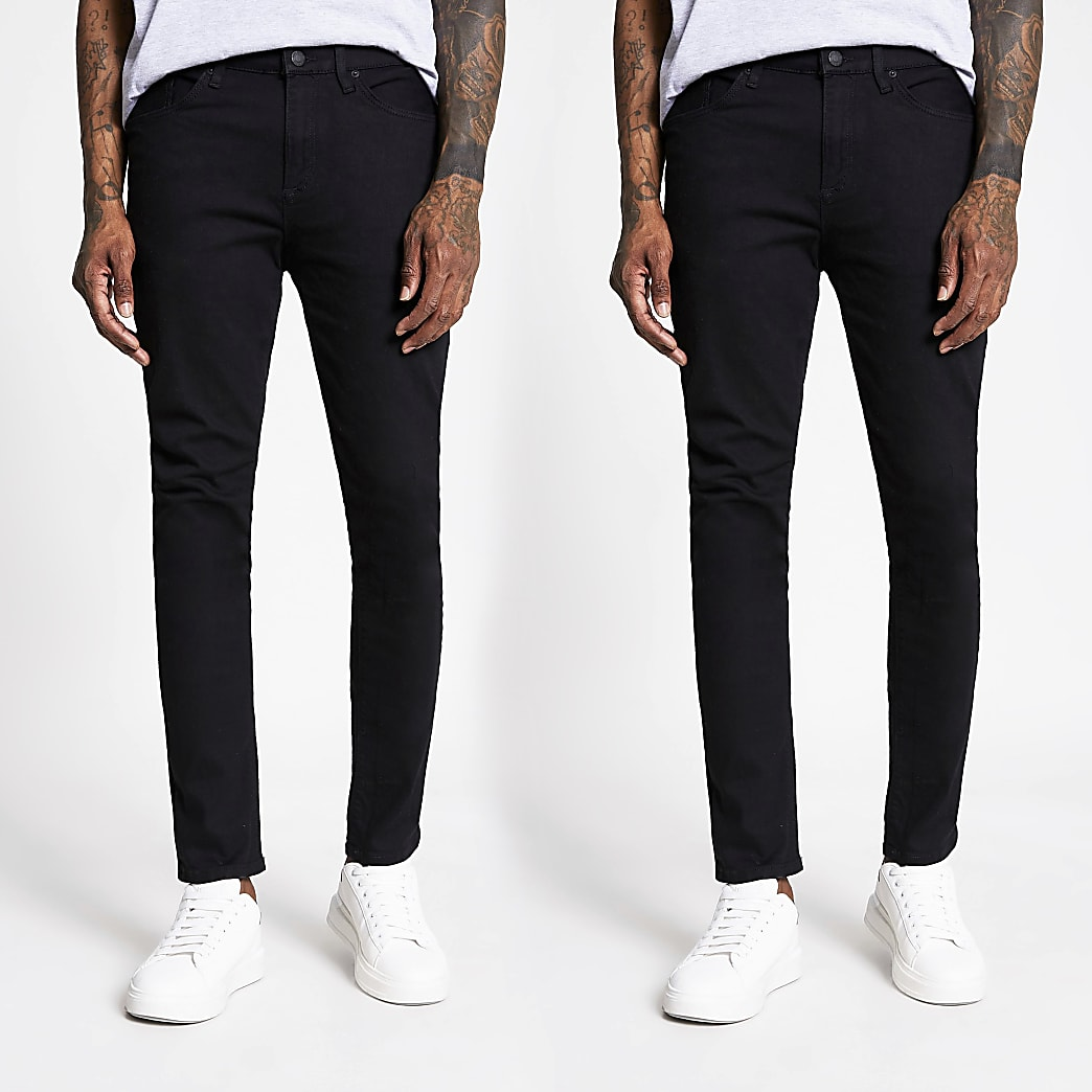 Black skinny fit jeans 2 pack