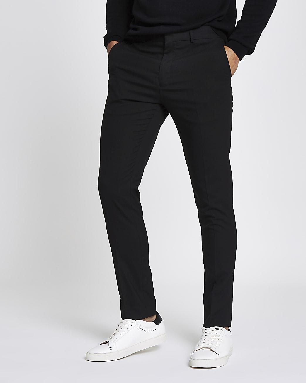 Black skinny fit smart trousers