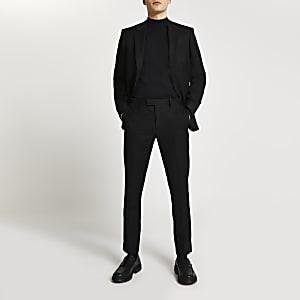 Schwarze Skinny Anzugshose