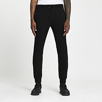 Black skinny joggers
