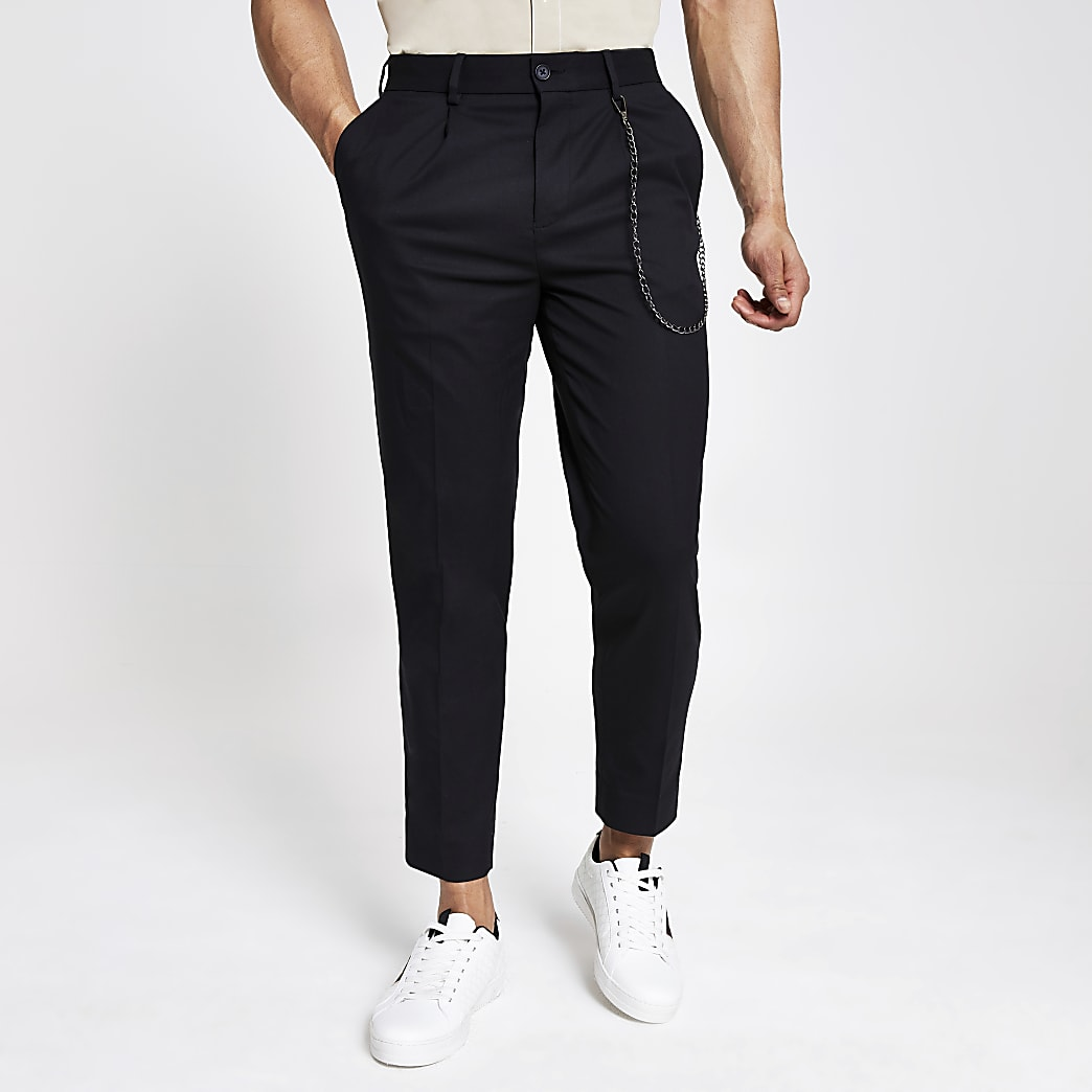 Pantalon skinny fuselé noir
