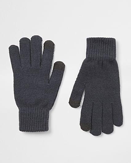 Black slate gloves