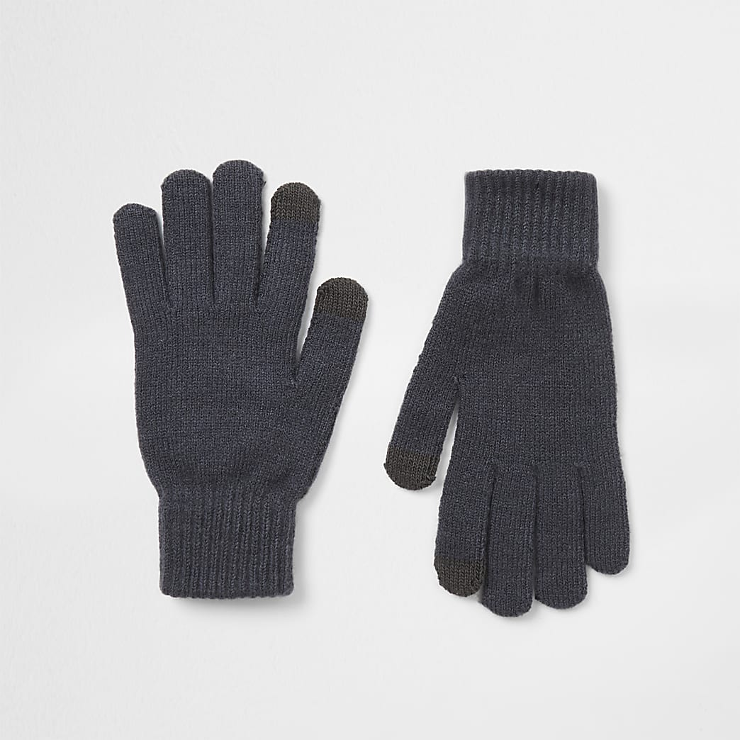 Black slate gloves