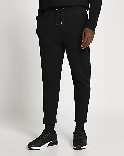 Black slim fit basic joggers