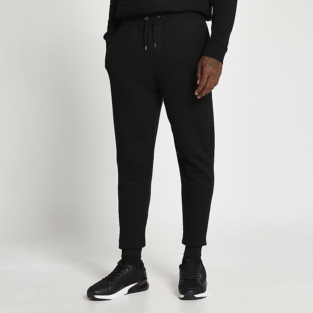 Black slim fit basic joggers