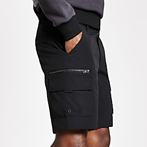 Short cargo slim noir