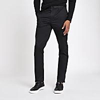 Black slim fit chino trousers