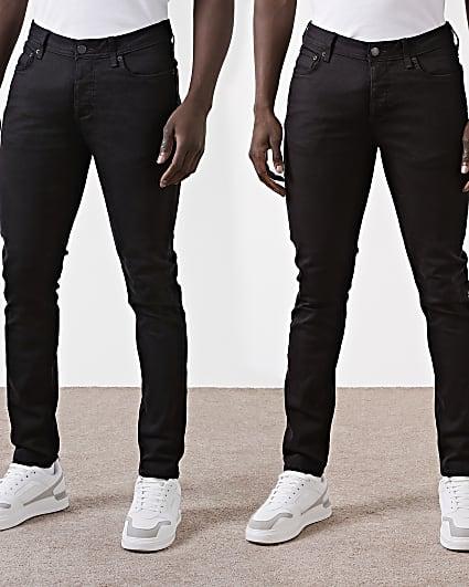 Black slim fit jeans 2 pack