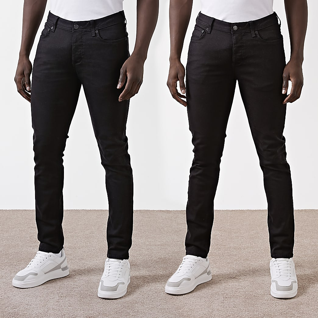 Black slim fit jeans 2 pack