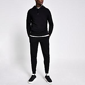 Pantalon de jogging slim noir