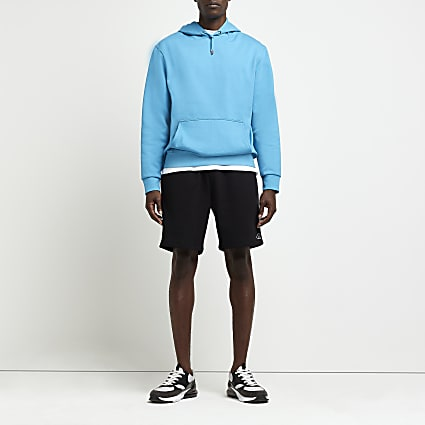 Black slim fit RI shorts
