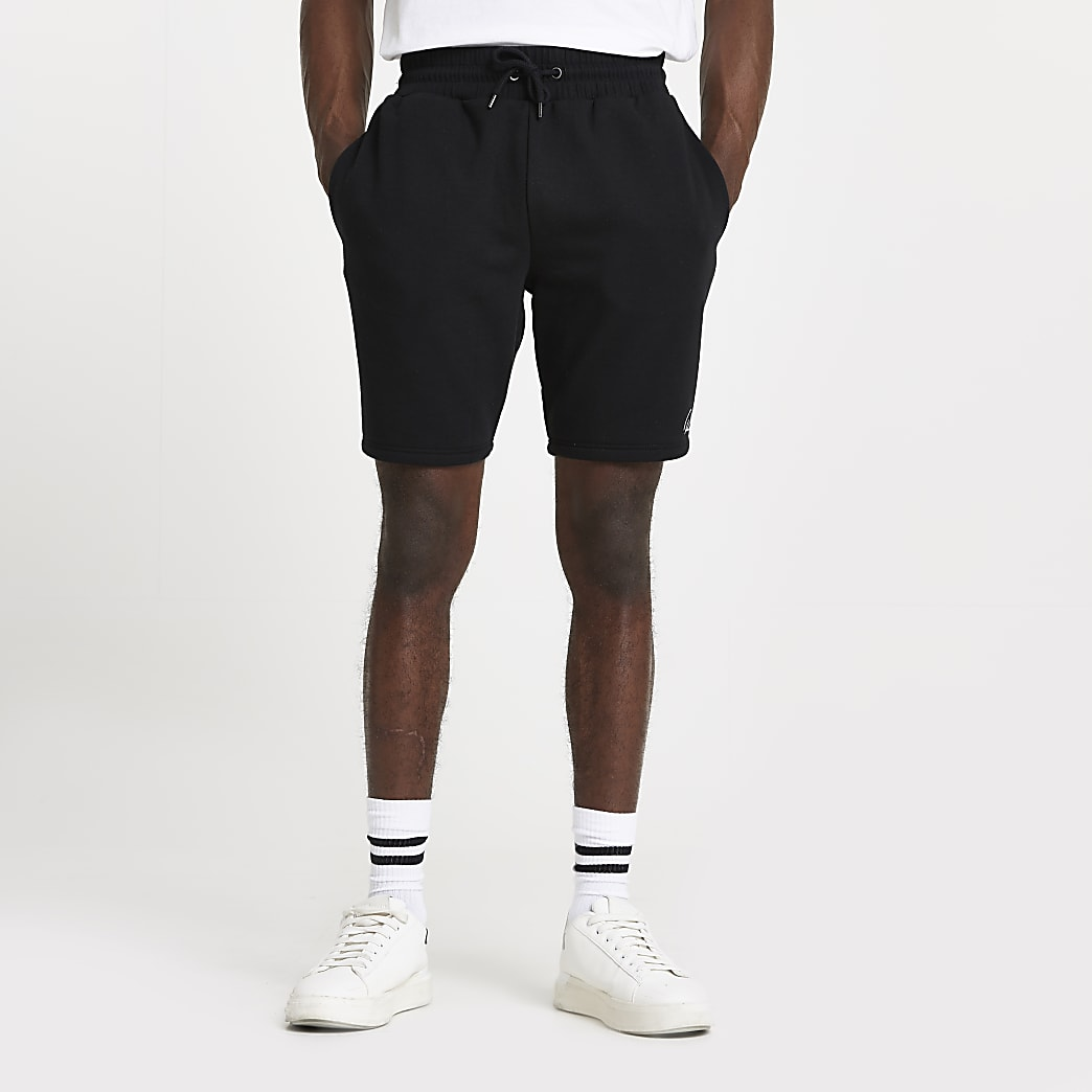 Black slim fit RI shorts