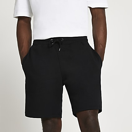 Black slim fit shorts