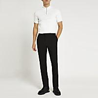 Black slim fit smart trousers