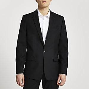 Black slim fit suit jacket