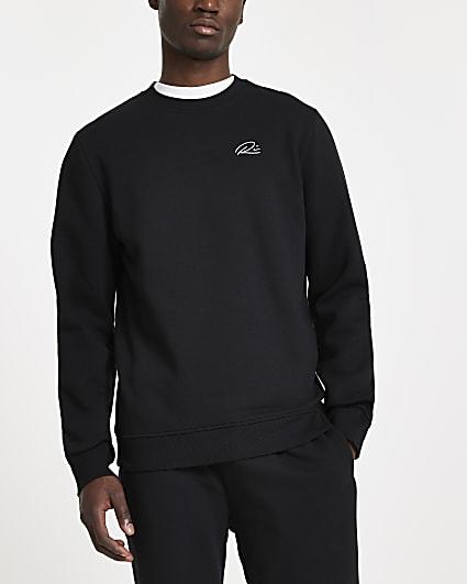 Black slim fit sweatshirt