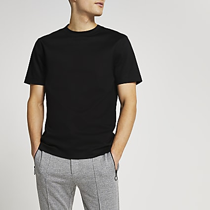 Black slim fit t-shirt