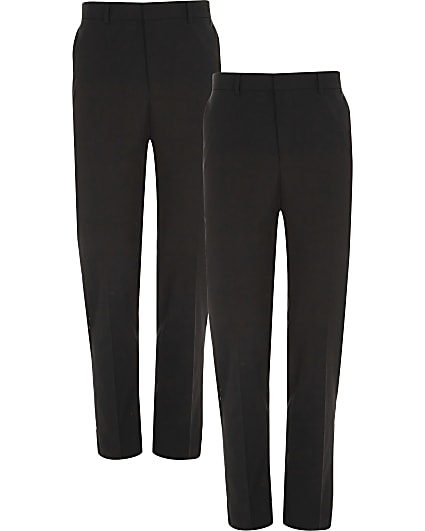 Black slim fit trousers multipack
