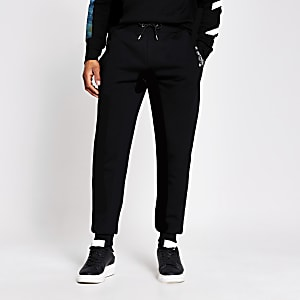 Pantalon de jogging imprimé slim noir