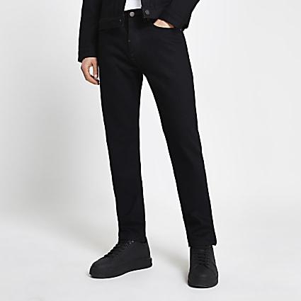 Black slim-skinny fit Grant jeans