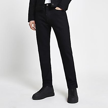 Black slim-skinny fit jeans