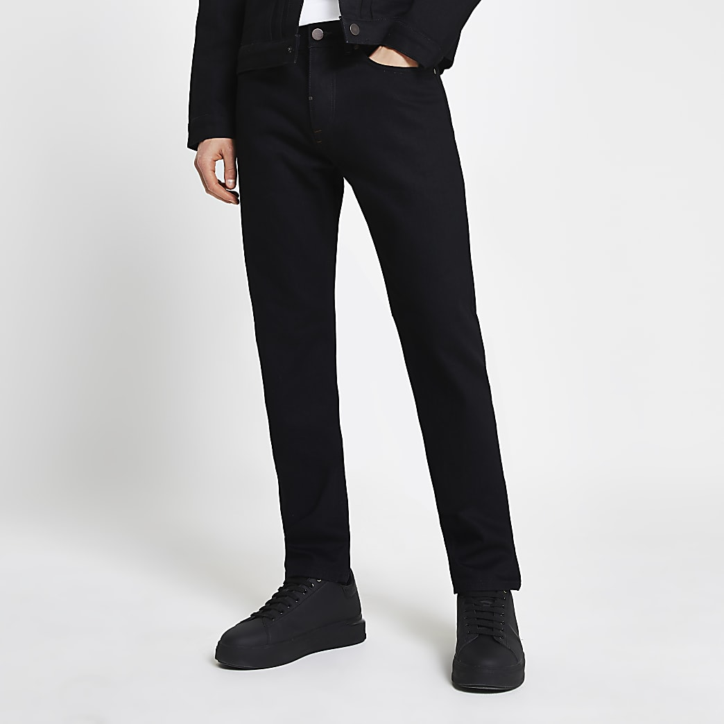 Black slim-skinny fit jeans