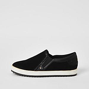 Zwarte instapsneakers