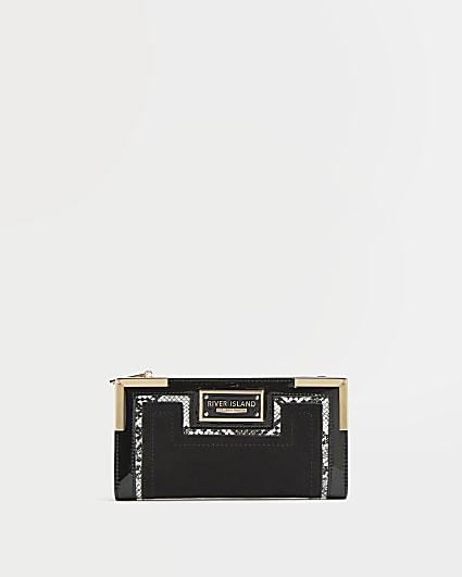 Black snake print purse