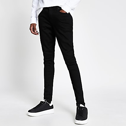 Black spray on skinny fit jeans